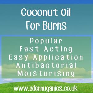 Coconut oil for burns
