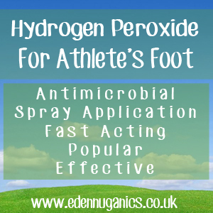 Hydroden Peroxide for Athlete's Foot