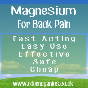 Back Pain And Magnesium Supplements
