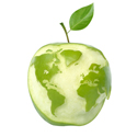 world as an apple