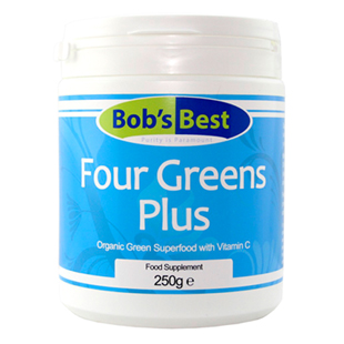 Organic Four Greens with Vitamin C 250g