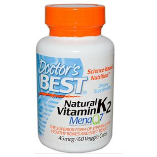 Doctors Best Natural Vitamin K2 60 45mcg Vcaps