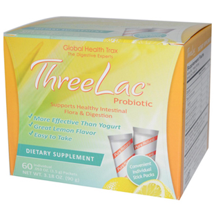 Global Health Trax ThreeLac Probiotic 60 Packets