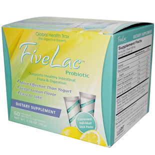 Global Health Trax FiveLac Probiotic 60 Packets