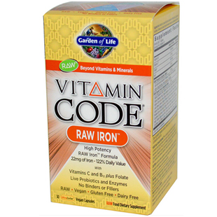 Garden of Life Vitamin Code Raw Iron 30 Vcaps