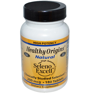 Healthy Origins Seleno Excell 180 200mcg Tablets