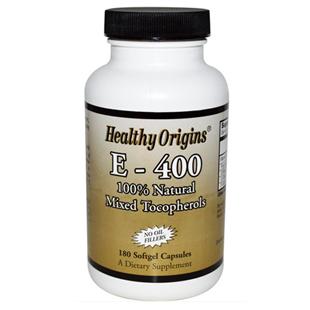 Healthy Origins E-400 180 Softgel Capsules