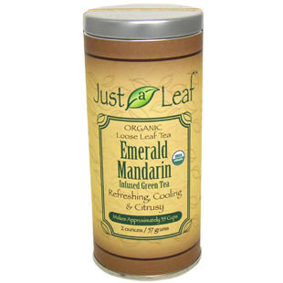 Green tea infused with emerald mandarin essence