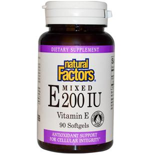 Natural Factors Mixed Vitamin E 90 200iu Softgels