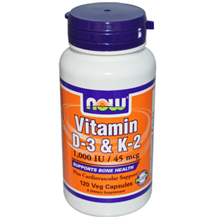 Now Foods Vitamin D3 and K2 120 45mcg Vcaps