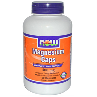 Now Foods Magnesium Caps 180 400mg Capsules