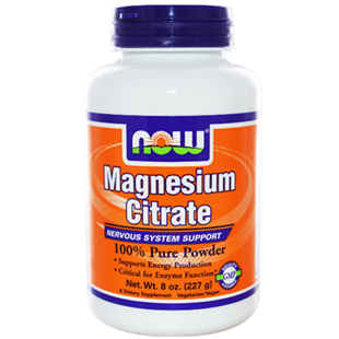 Now Foods Magnesium Citrate Powder 227g