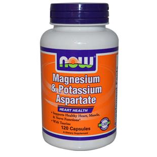 Now Foods Magnesium  Potassium Aspartate 120 Capsules