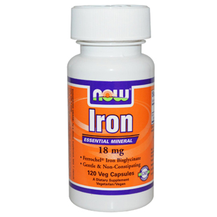 Now Foods Iron 120 18mg VCaps