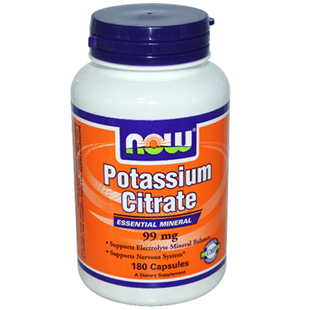 Now Foods Potassium Citrate 180 99mg Capsules