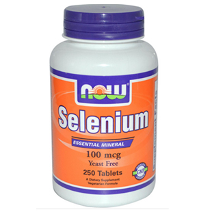 Now Foods Selenium 250 100mcg Tablets