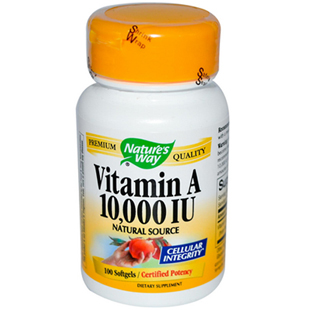 Natures Way Vitamin A 100 10000iu Softgels