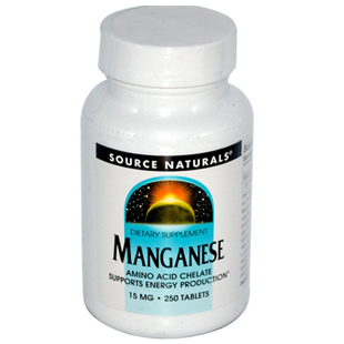 Source Naturals Manganese 250 15mg Tablets