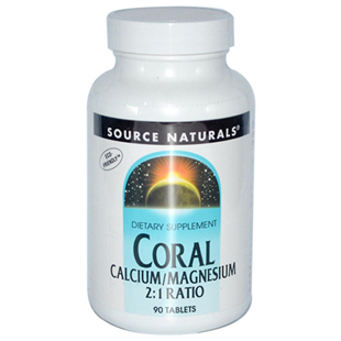 Source Naturals Coral Calcium Magnesium 90 Tablets