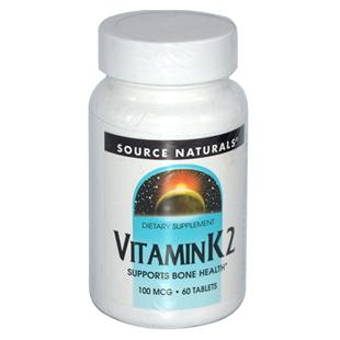 Source Naturals Vitamin K2 60 100mcg Tablets